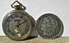 vin GRUEN SEMI-THIN ART DECO ERA POCKET WATCH FANCY DIAL 16 JEWELS, RUNS BEAUTY