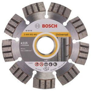 Bosch Disco diamantato Universal+Metal Turbo D 115mm calcestruzzo armato klinker
