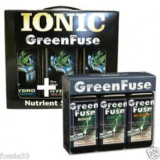 IONIC 1 LITRE GROW, BLOOM AND BOOST FOR HYDRO & GREEN FUSE 100ML TRIPLE PACK