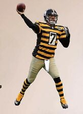 "Ben Roethlisberger FATHEAD Steelers Throwback NFL Vinyl Wall Graphic 16"" INCH"