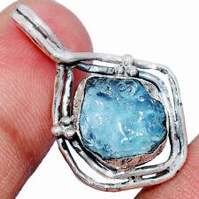 Aquamarine Rough 925 Sterling Silver Pendant Jewelry AP244773 237B