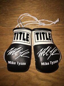 Mike Tyson Autographed Mini Boxing Gloves Signed memorabilia Gift Tribute
