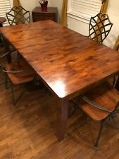 Beautiful wood dining set with 4 wrought iron and wood chairs