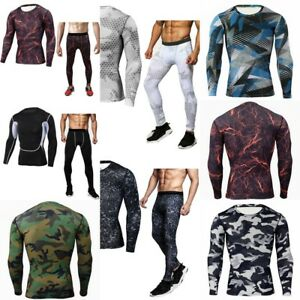 Men Tactical Military Camouflage Autumn Thermal Underwear Breathable Long Johns