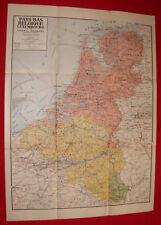 Carte des Pays-Bas, Belgique et Luxembourg par Girard et Barrère (Editeurs) 1920