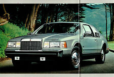 1984 Lincoln Continental Mark VII Continental Town Car Limo DLX Sales Brochure