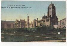 Exposition de Bruxelles 1910 Pavillon Manufacture d'Armes Herstal Postcard Us086
