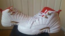 Air Jordan 12 Retro (GS) Youth size 7, White/University Red