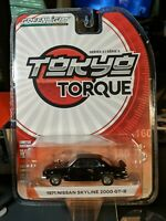 GREENLIGHT TOKYO TORQUE SERIES 3 1971 NISSAN SKYLINE 2000 GT-R Black