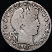 1908 O | U.S.A. Barber Half Dollar | Silver | Coins | KM Coins