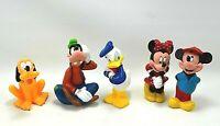 "Disney Characters Figures 4"" - 6""  Lot Of 5 Mickey Minnie Donald Goofy Pluto"