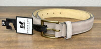 The Belted Cow Company Hampton Gray Suede Nuback Mens Belt Made in Maine NEW $88