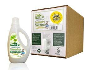 Euca Laundry Sanitiser Liquid 15lt eco box and 1.5lt bottle