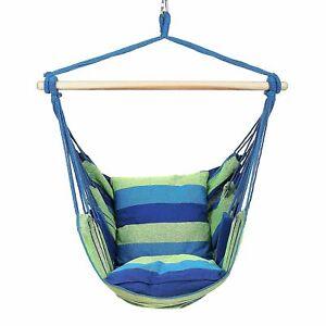 Hammock Chair Hanging Swing Chair Seat Garden Hammock Indoor Outdoor Furniture