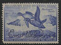US Scott #RW19, Single 1952 Duck Stamp $2 FVF MNH