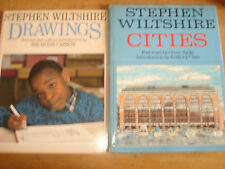STEPHEN WILTSHIRE DRAWINGS,FIRST PAPERBACK EDITION 1987 & harback called cities