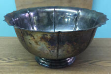 Large Vintage Lachman & Co Silver Plated Footed Bowl