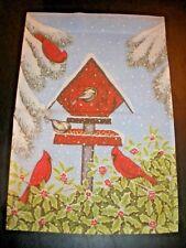 Indoor Outdoor Decorative Flag Kathy Hunter BIRDHOUSE CARDINAL BIRDS