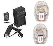 Two 2 NP-BX1 Batteries + Charger for Sony Cyber-shot DSC-RX100 DSCRX100/B Camera