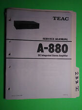 Teac a-880 service manual original repair book stereo amp amplifier 2 books