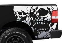 Vinyl Graphics Rear Decal DOUBLE SKULL Wrap Kit Ford F-150 Truck 2004-2008 WHITE