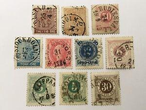 old stamps  SWEDEN  x  10