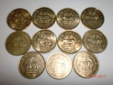"""- INDIA COINS LOT - 11 X RS. 5/- """"RESERVE BANK OF INDIA -75TH ANN.""""- 2010 #11BG2"""