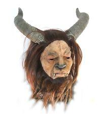 Horned Devil Beast Man Horns Adult Latex Halloween Mask
