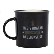 Awesome Dad Mug, Black Fun Cup, Gift for Him - Father's Day Present