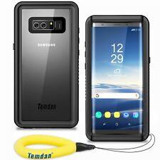 For Samsung Galaxy Note 8 Case Temdan IP68 Waterproof Shockproof Case Black