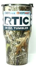 RTIC 20 oz Stainless Steel Vacuum Insulated Tumbler W/ Flip-Top Lid-Kanati Camo