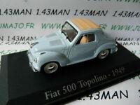 RBA6M voiture 1/43 RBA Italie IXO : FIAT 500 Topolino 1949