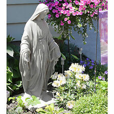 "Virgin Mary Statue 34"" Sculpture Resin Antique Religious Natural Outdoor Indoor"