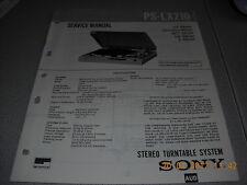 Sony ps-lx210 Stereo Turntable System giradischi service manual