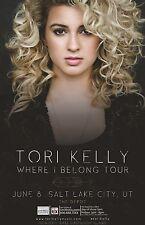 "TORI KELLY ""WHERE I BELONG TOUR"" 2015 SALT LAKE CITY CONCERT POSTER - Pop Music"