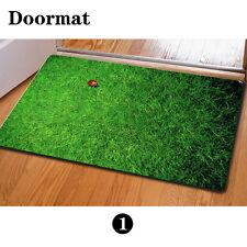 Green Grass Stylish Floor Carpet Area Rug Non-slip Doormat Room Entrance MatS