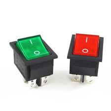 Interruptor 2 posición de enganche Rectangular 4 Pines Negro Rojo Verde Azul DPST