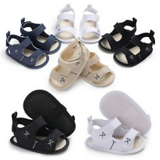 New Arrived Soft Sole Baby Boy Crib Shoes Anti-Slip Summer Sandals 3 6 9 12 18 M