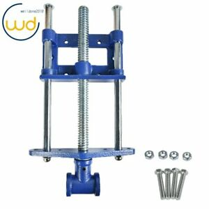 """9"""" Woodworking Vise Bench Front Vise Cast Iron 300mm Chrome Plated Screw"""