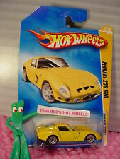 HTF 2009 #5 NM Hot Wheels FERRARI 250 GTO ∞Yellow; lace wire ∞New Models∞