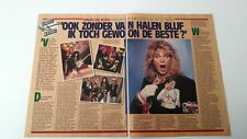 DAVE LEE ROTH (VAN HALEN) 2 page ARTICLE/clipping from Joepie Belgian magazine