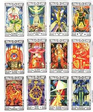 "Aleister Crowley Thoth Tarot Deck English 79 Cards MINI 4.5x7.5cm 1.8х3"" +Track"