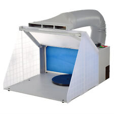 Portable Airbrushing Paint Spray Booth & Extractor with Light Adjustment Cabine