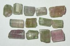 30.27ct Lot 13pcs Watermelon Tourmaline Rough Crystals & Pieces