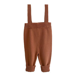 Baby Suspender Pants Boys Girls Knitting Trousers Cotton Casual Toddler Bottoms