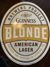 Guinness Blonde American Lager Enamel tin sign New Never Displayed