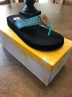 Yellow Box Wally Turquoise Flip Flop NIB Choose Size