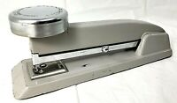 "Vintage 8"" Monarch Gray Metal Chrome Stapler Vail Manufacturing Co. Chicago USA"