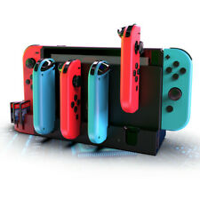 LED Charging Dock Station Stand Card With 4 Ports For Nintendo Switch Joy-Con