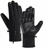 Mens Winter Gloves -30℉Windproof Waterproof Touch Screen Gloves for Outdoor, XL